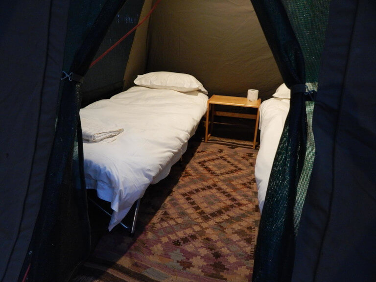 Beds in the Woodcutter's bush camp