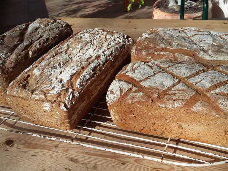 loaves of 100% rye bread from our artisanal bakery