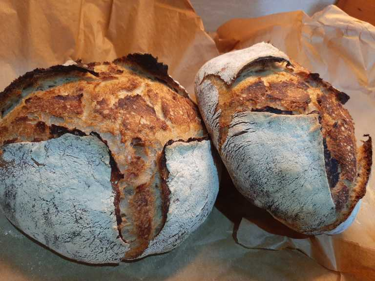 Loaves of 'The Old Trading Post' bread