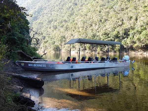 Wilderness River Safari boat on river